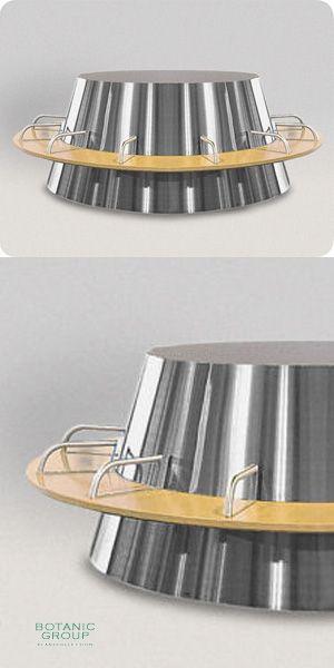 Steel Planter Superline Galileo