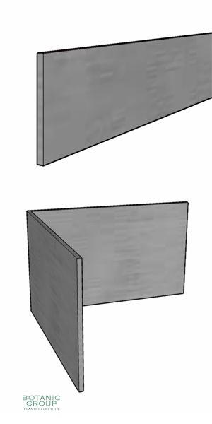 Rasenkante aus Stahl, verzinkt, 150 mm Höhe