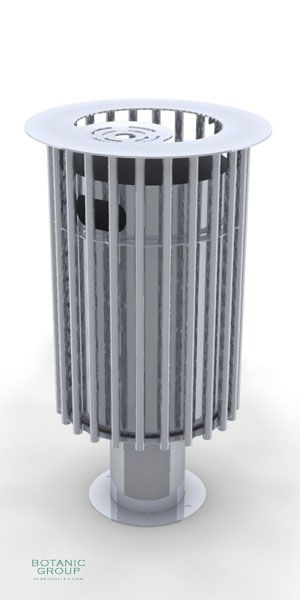Waste containers, stainless steel SLC07