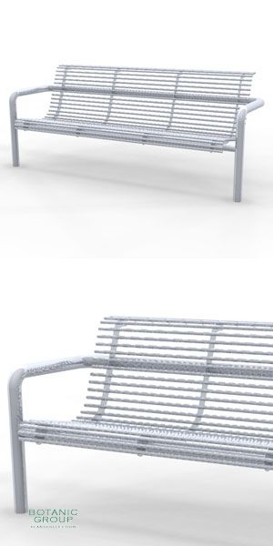 Park Bench SLC56,  stainless steel
