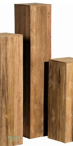 Column teak wood, teak panels decorative column