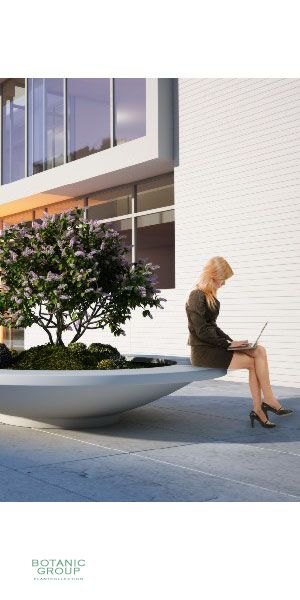 Concrete planter poly Bowl with seat ring