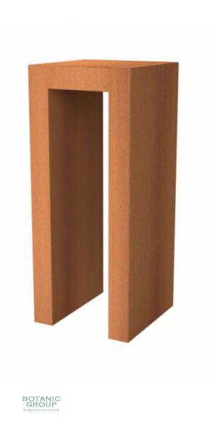 Corten steel Deko column Designline U-Form
