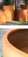 Corten Stahlpflanzgefäß Designline BASIC RONDO, Pflanzkübel
