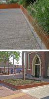 Rasenkante aus Cortenstahl mit 90° Winkel in 200 mm Höhe