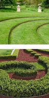 Corten steel lawn edge round rim 300 mm Height