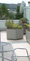 Fiber cement planter, hexagon planter XXL