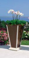 Urban Green Vase planters, wooden planters
