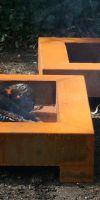 Flat fire bowl BC Corten steel design, steel fire bowl