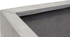 DIVISION PLUS Rectangular Planter in Natural Concrete
