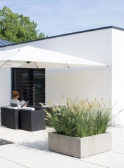 DIVISION PLUS Cube Planter in Natural Concrete