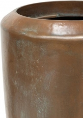 LOFT XL Planter in verdigris bronze